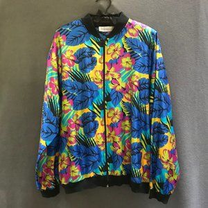 Vintage silky bomber-style jacket